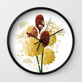 Wild bouquet Wall Clock