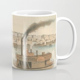 Vintage Pictorial View of Memphis TN (1854) Coffee Mug