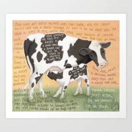 Cows 1- Holstein (Dairy) Art Print