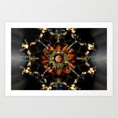 Blood Moon Lotus Mandala Art Print