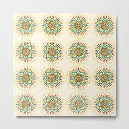 Dotted Mandala Pattern Metal Print