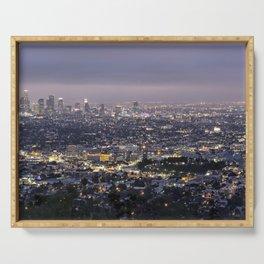 Los Angeles Nightscape No. 1 Serving Tray