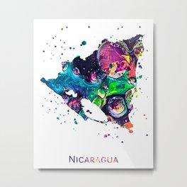 Nicaragua Map Metal Print