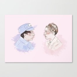 The Gran hotel Budapest Lovers Canvas Print