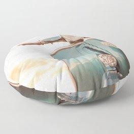 The Blue Vespa Floor Pillow