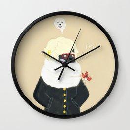 Martin en Hiver Wall Clock