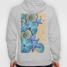 SEA SHELLS ON THE BEACH Hoody