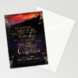 Constellation - The Star Touched Queen Stationery Cards