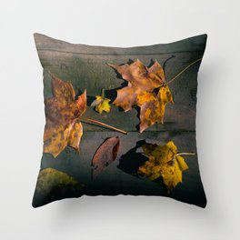 Fall Season in its many Shades. Throw Pillow