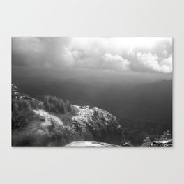 Table Mountain before the storm Canvas Print