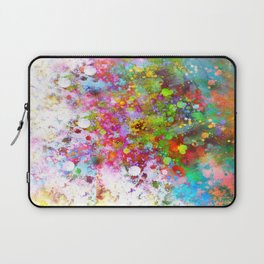 Color Splash abstract art by Ann Powell Laptop Sleeve