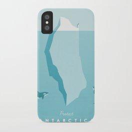 Vintage Travel Poster: Antarctica iPhone Case