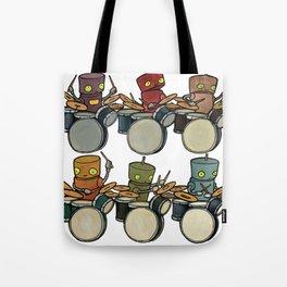 Robot - Drummers Tote Bag