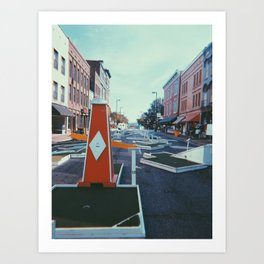 Putt-Putt on Main Street Art Print