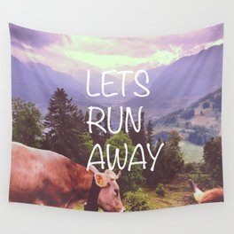 Lets Run Away Wall Tapestry