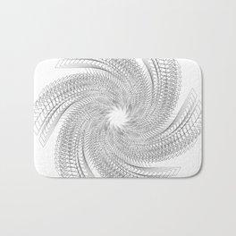 Abstract Geometric Black and White Bath Mat