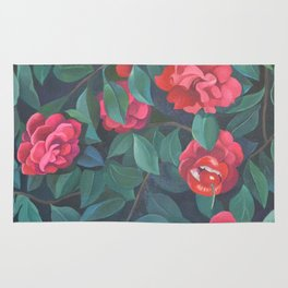 Camellias, lips and berries. Rug