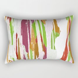 Abstract Rainbow Splash Design Rectangular Pillow