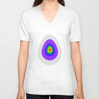 eggs V-neck T-shirts featuring Eggs by smassico
