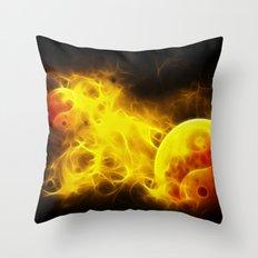 Karma Flames Throw Pillow