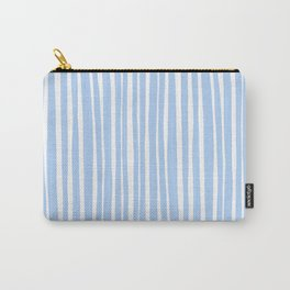 Small Geometry - Light Blue Lines Carry-All Pouch