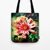 succulent Tote Bags featuring Succulent by Eve Penman