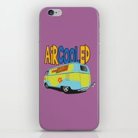 vw bus iPhone & iPod Skins featuring VW Camper Drag Bus by VelocityGallery