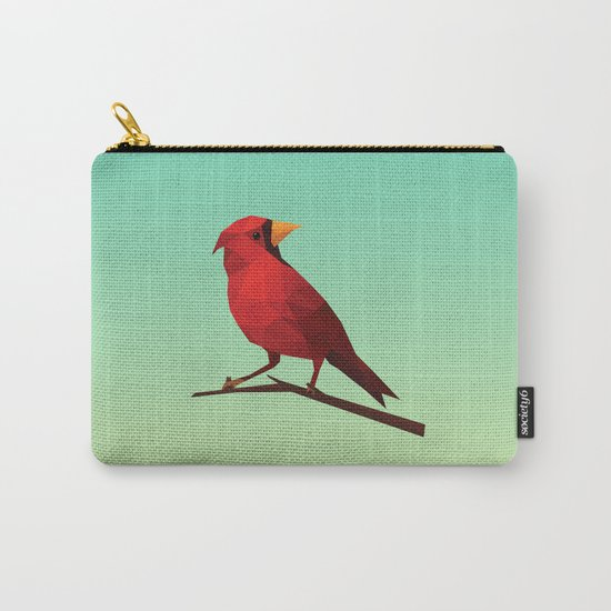 Low-poly Red Bird Carry-All Pouch