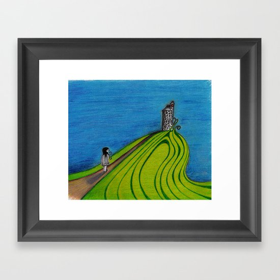 La colline Framed Art Print