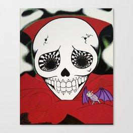 Vampire Skull Canvas Print