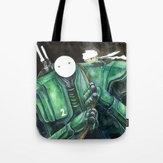 Moonbot #2: Green Tote Bag