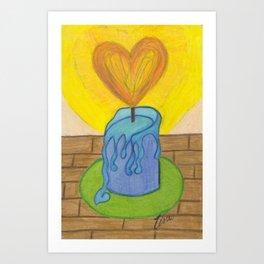 Burnin' Love Art Print