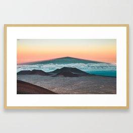Mauna Kea Shadow Framed Art Print