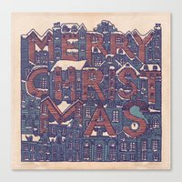 merry christmas Canvas Prints featuring Merry Christmas! by Duncan Barrett