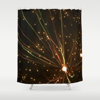 fireworks Shower Curtains featuring Fireworks by Herzensdinge