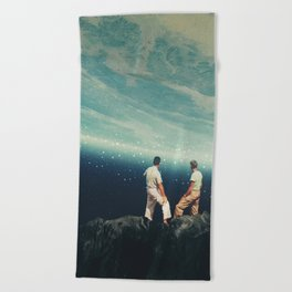 The Earth was crying and We were there Beach Towel