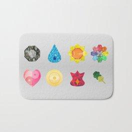 Kanto Region Badges Bath Mat