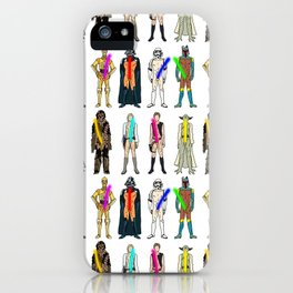 Naughty Lightsabers - Light iPhone Case