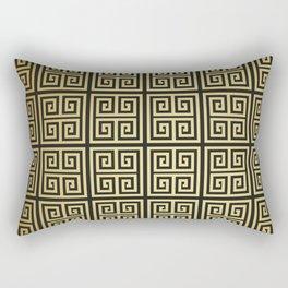 Black and gold high fashion Greek key pattern Rectangular Pillow