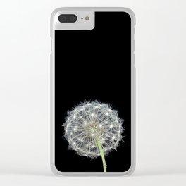 Dandelion flower Clear iPhone Case