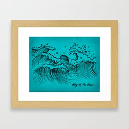 WAY OF THE OCEAN - Waves Print Framed Art Print