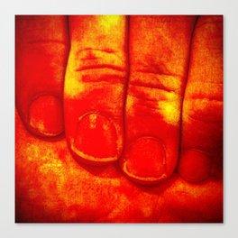 Dedos Rojos Canvas Print