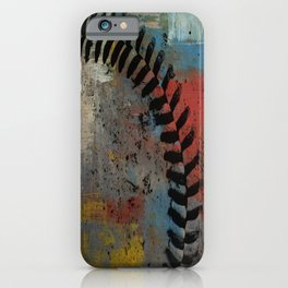 Painted Baseball iPhone Case