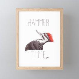 Hammer Time (Pileated Woodpecker) Framed Mini Art Print