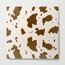 Brown Cow Print  Metal Print