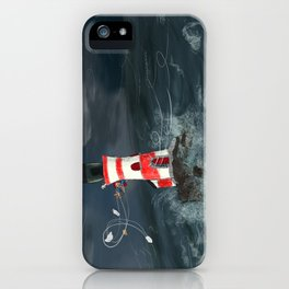 Gust of wind. iPhone Case