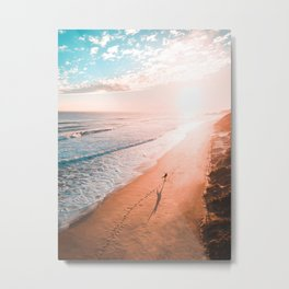 Sunset and me Metal Print