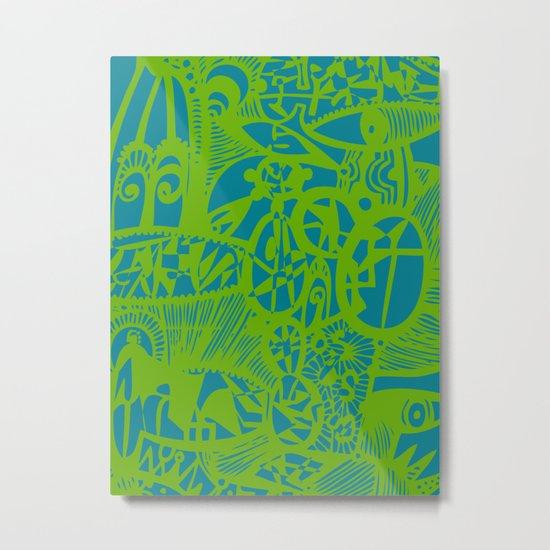 INK#7 Dream in Green Metal Print
