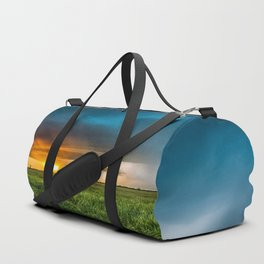 Invasion - Colorful Storm Invading Central Oklahoma Plains Duffle Bag
