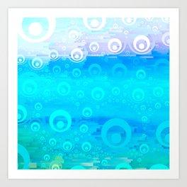 Blue Sky Bubble Pattern Art Print